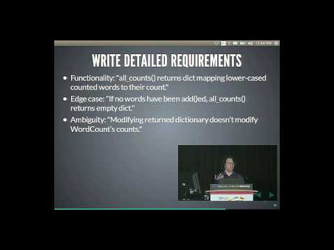 Itamar Turner-Trauring - A Beginner's Guide to Test-driven Development - PyCon 2015