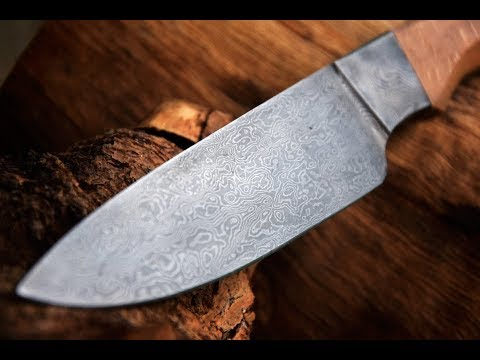 Video How to make Integral Damascus Knife download in MP3, 3GP, MP4, WEBM, AVI, FLV January 2017