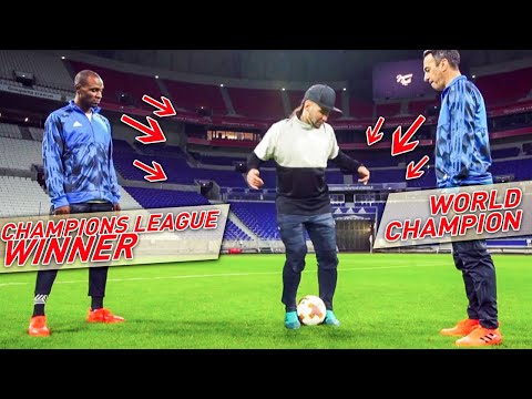 CAN THIS 2 FOOTBALL LEGENDS FREESTYLE ? Europa league Final