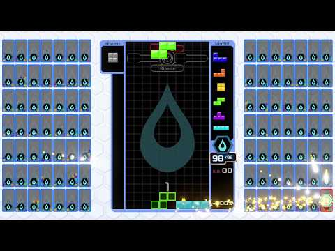 [Tetris 99] あめみや (amemiya) vs. the world (1 vs. 98)
