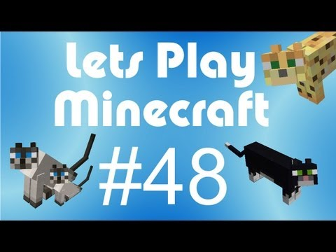 Minecraft let s play 48 ocelots and cats minecraft villagers