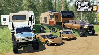 Nonton FS19- MILLIONAIRES GO LUXURY CAMPING! WITH A LAMBORGHINI & $90,000 RAM MEGA CAB, FORD SUPER SIX Film Subtitle Indonesia Streaming Movie Download