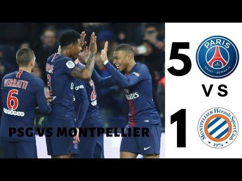 PSG VS Montpellier 5 - 1 All Goals & highlights 4k