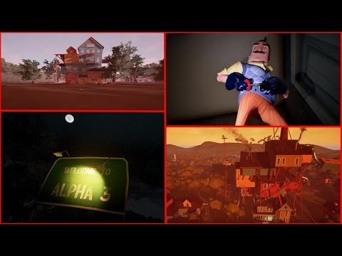 Hello Neighbor - (Alpha 1, 2, 3 & 4) All Trailers! - HELLO NEIGHBOR EVOLUTION.