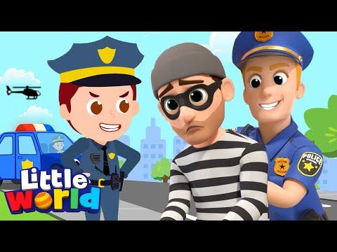 Policeman Keeps Us Safe    Little World - Kids Songs & Nursery Rhymes