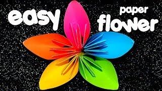 EASY Origami Flower - YouTube
