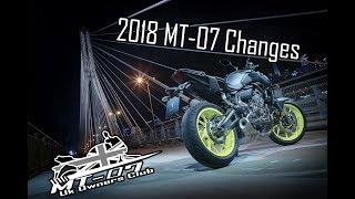 6. 2018 Yamaha MT-07 Changes