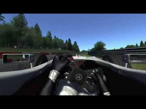 Assetto Corsa McLaren MP4/13 5:36.297 lap at Nürburgring Nordschleife (with corner names)