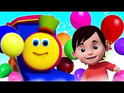Balloon Song | Bob The Train | Nursery Rhymes & Songs for Babies