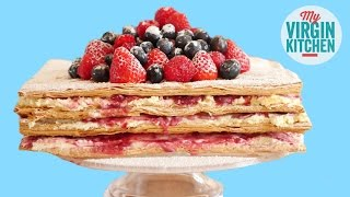 BERRY CREAM PASTRY STACK by  My Virgin Kitchen