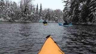 Hayward (WI) United States  city images : Kayaking with virgin snow on Namekagon River in Hayward, Wisconsin.