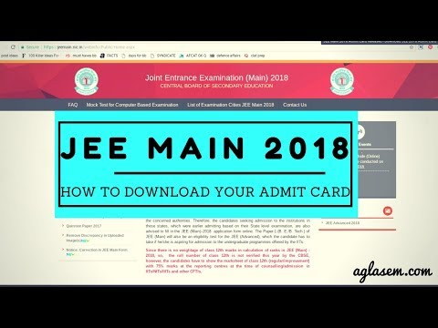 How To Download Your JEE Main 2018 Admit Card