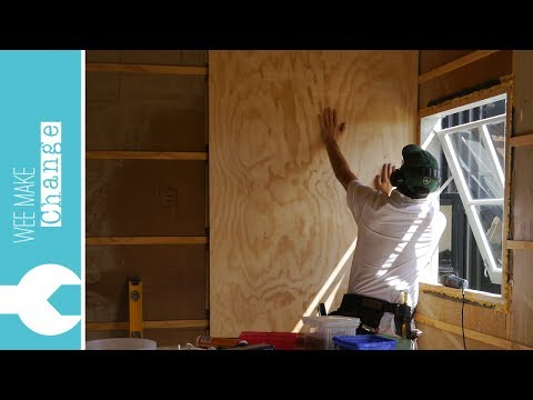 """How to Line Walls and Ceiling with Plywood """"Tiny House Project"""""""