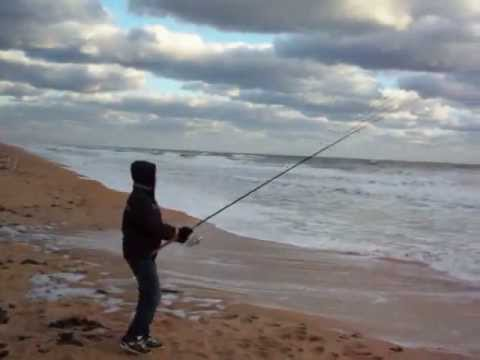 Surf fishing for Bluefish using a Krocodile spoon – FL 2010