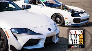 MKIV AND MKV Supras came to BATTLE!   Drag Week Day 1 by 1320Video