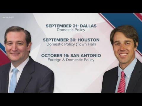 Cruz, O'Rourke to debate before election