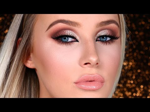 NEW YEAR'S EVE Glam Makeup Tutorial! | Lauren Curtis