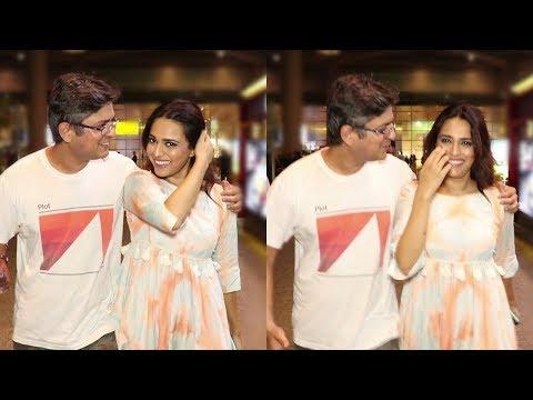 Swara Bhasker With Her Boyfriend At Mumbai Airport
