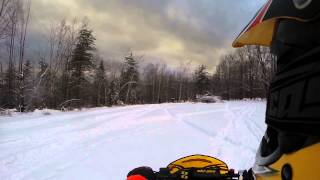 9. Skidoo 550f catwalk wheelies 12-28-13