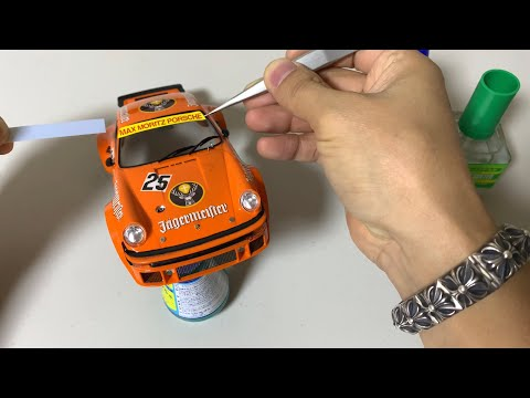 How to build a Porsche 934 Turbo RSR Jagermeister STEP BY STEP - 1/24 Tamiya