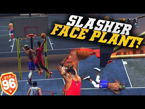 99 Contact Dunk With Takeover Made Him Faceplant! Hop-step Pro! Nba 2k19 Park Gameplay