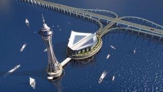 Самый длинный подвесной мост в мире,(Акаси-Кайкё)