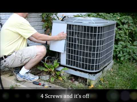 How To Replace a Heat Pump (Central Air Conditioner) Capacitor SAVE HUNDREDS $$$!