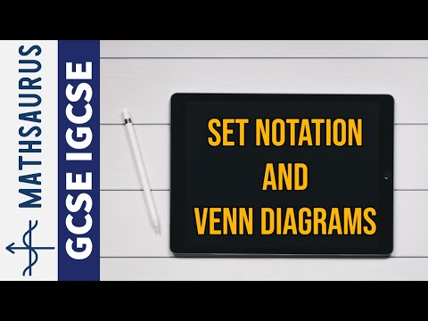 Set Theory And Venn Diagrams Mathsaurus