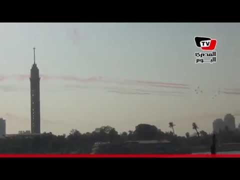 استعراض جوي لطائرات «إف ١٦» الجديدة بسماء القاهرة