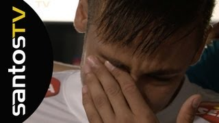 Antes do jogo contra o Flamengo, Neymar se emocionou ao dizer suas últimas palavras aos companheiros de quipe. Confira...
