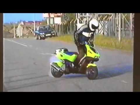 Wheelierich italjet dragster scooter stunt burnout