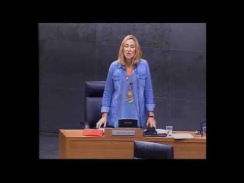 Ana Beltrán pregunta a Barkos por qué no asistió a la entrega de la bandera a la Guardia Civil