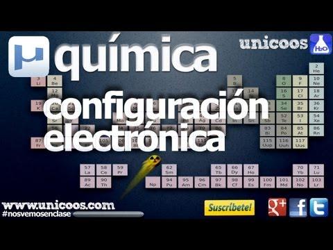 Configuración electronica y números CUANTICOS unicoos Moeller AUFBAU quimica