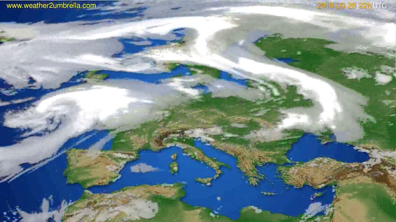 Cloud forecast Europe // modelrun: 00h UTC 2019-09-26