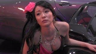 超巨乳で美人なキャンギャルが凄くセクシーでした。 オートサロン2014