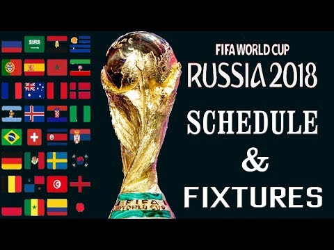 FIFA World Cup Football 2018 Schedule And Fixtures