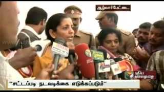Stringent action against those smuggling crackers from abroad, says Nirmala Seetharaman
