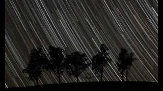 Stars Rising Behind the Trees - Time Lapse and Star Trails at IISAC2009