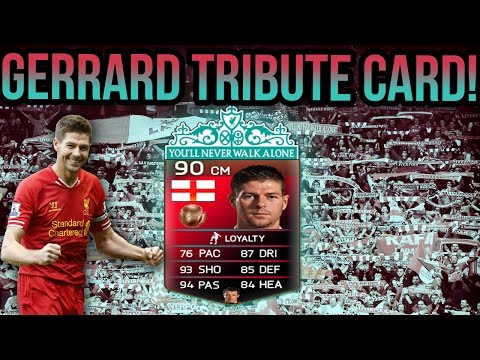 tribute - STEVEN GERRARD TRIBUTE CARD! FIFA 14 ULTIMATE TEAM FOR FIFA 14 ULTIMATE TEAM COINS! http://goo.gl/uHpq4b Use promo code: zwe for 5% off purchases! https://twitter.com/futcoinsellers_ Follow...