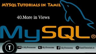MYSQL Tutorials In Tamil 40 More In Views