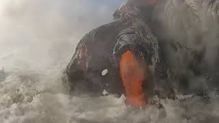 Video Rare Lava Hitting The Beach Footage COMPILATION MP3, 3GP, MP4, WEBM, AVI, FLV April 2019