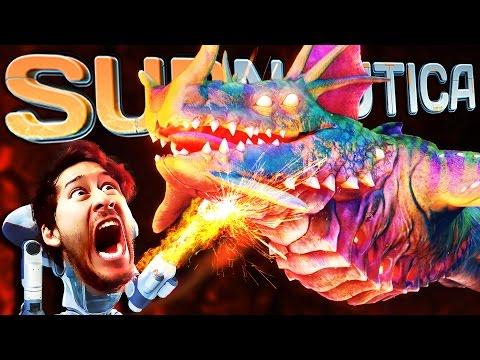 Subnautica | Part 59 | FIGHTING THE SEA DRAGON!! (видео)