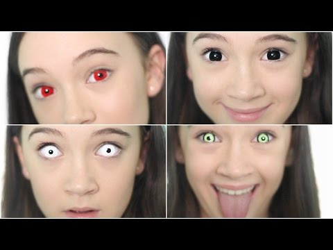 5 Crazy Creepy Color Contacts/Color Contact LOOKBOOK | Fiona Frills