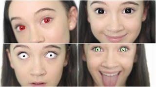 Video 5 Crazy Creepy Color Contacts/Color Contact LOOKBOOK   Fiona Frills MP3, 3GP, MP4, WEBM, AVI, FLV November 2017