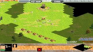 2vs2 HeHe,MeoMeo vs SơLuyến,Nhãn Tử, 282015   Trận 3, game đế chế, clip aoe, chim sẻ đi nắng, aoe 2015