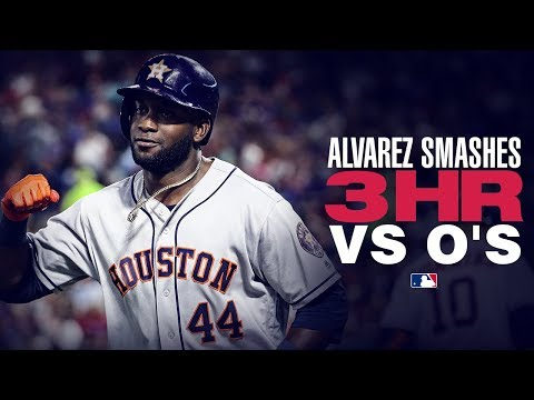 Video: Alvarez's three-homer night