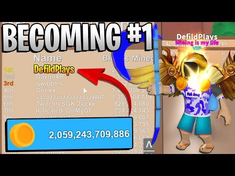BECOMING #1 IN ROBLOX MINING SIMULATOR! *Mythical Giveaway!*