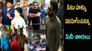 Video Maheshbabu ,Jr NTR ,Chiranjeevi ,Allu Arjun ,Nag cast  vote in Telangana  Elections||Aone Celebrity MP3, 3GP, MP4, WEBM, AVI, FLV Desember 2018