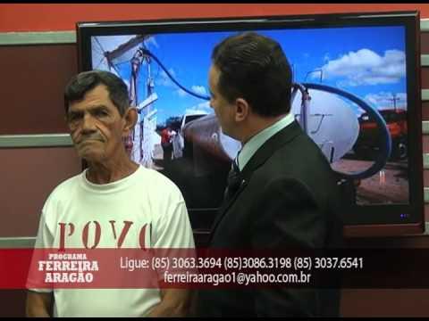 Programa Ferreira Aragão - O POVO: falta do carro pipa em Pereiro - CE