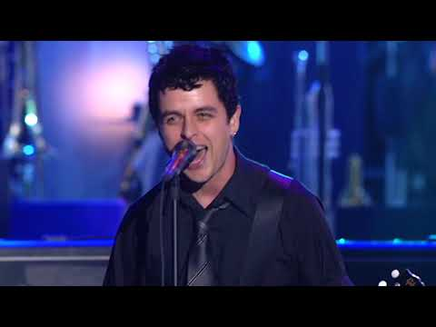 """Green Day perform """"Rockaway Beach"""" at the 2002 Rock & Roll Hall of Fame Induction Ceremony"""